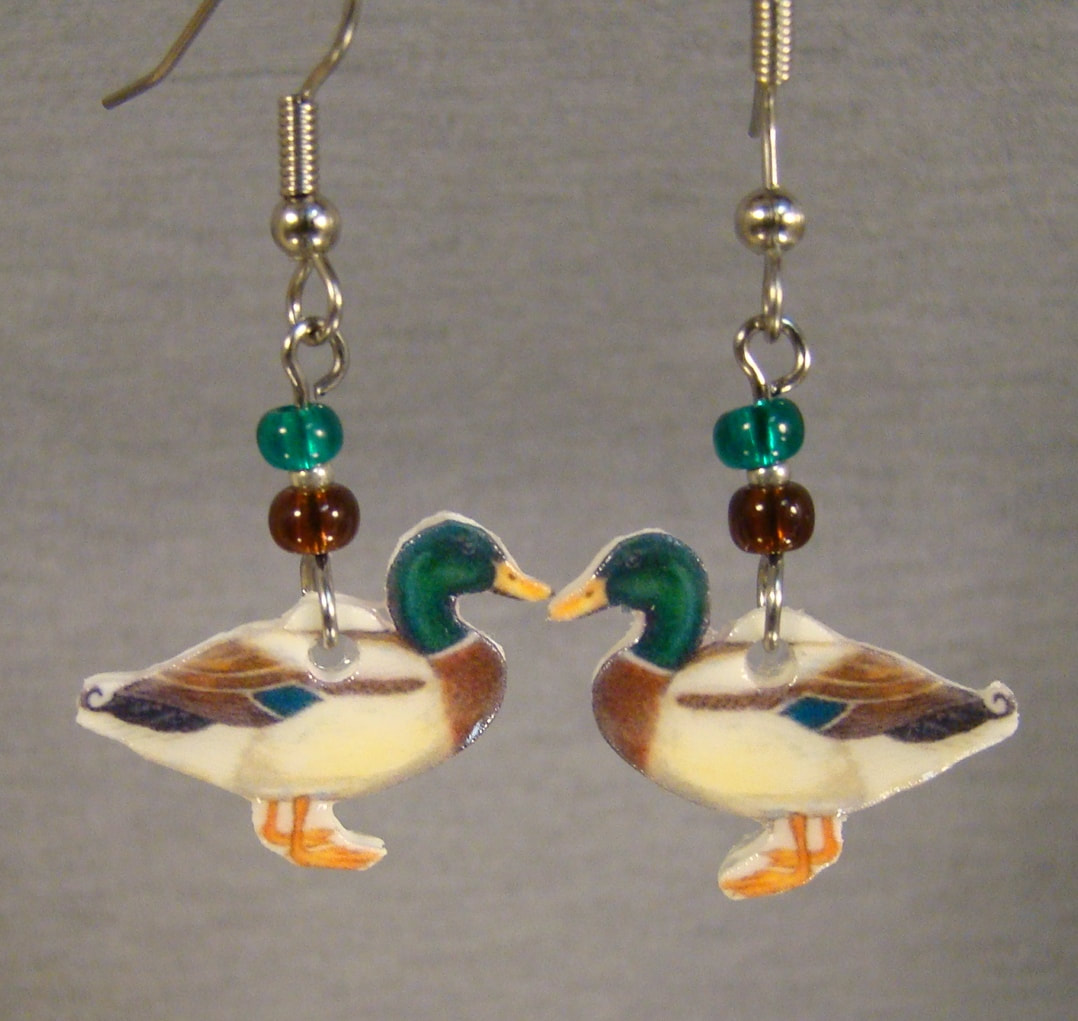 Mallard Duck Earrings